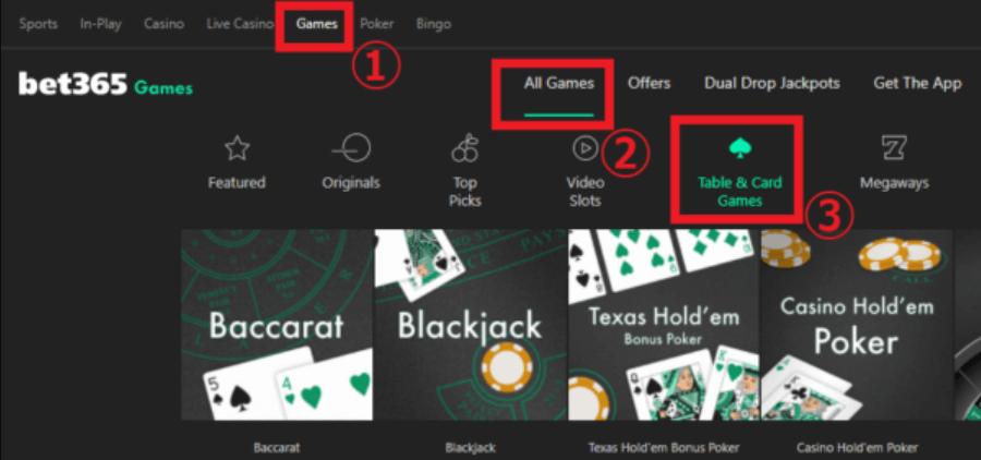ベット365カジノゲーム